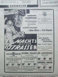 Nostalgie Kinoanzeige