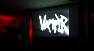 """Marcus Stiglegger bei der Vertonung von """"Vortex"""". Alle Fotos: Tobias Keßler 3. Cinefonie-Tag"""